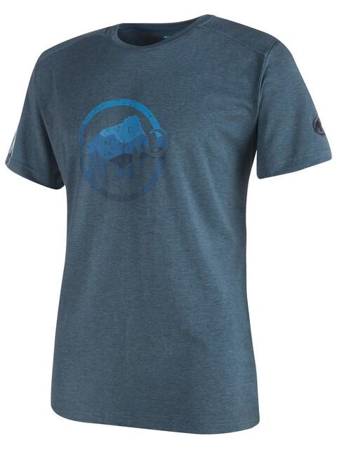 Mammut Trovat t-shirt Heren blauw/petrol